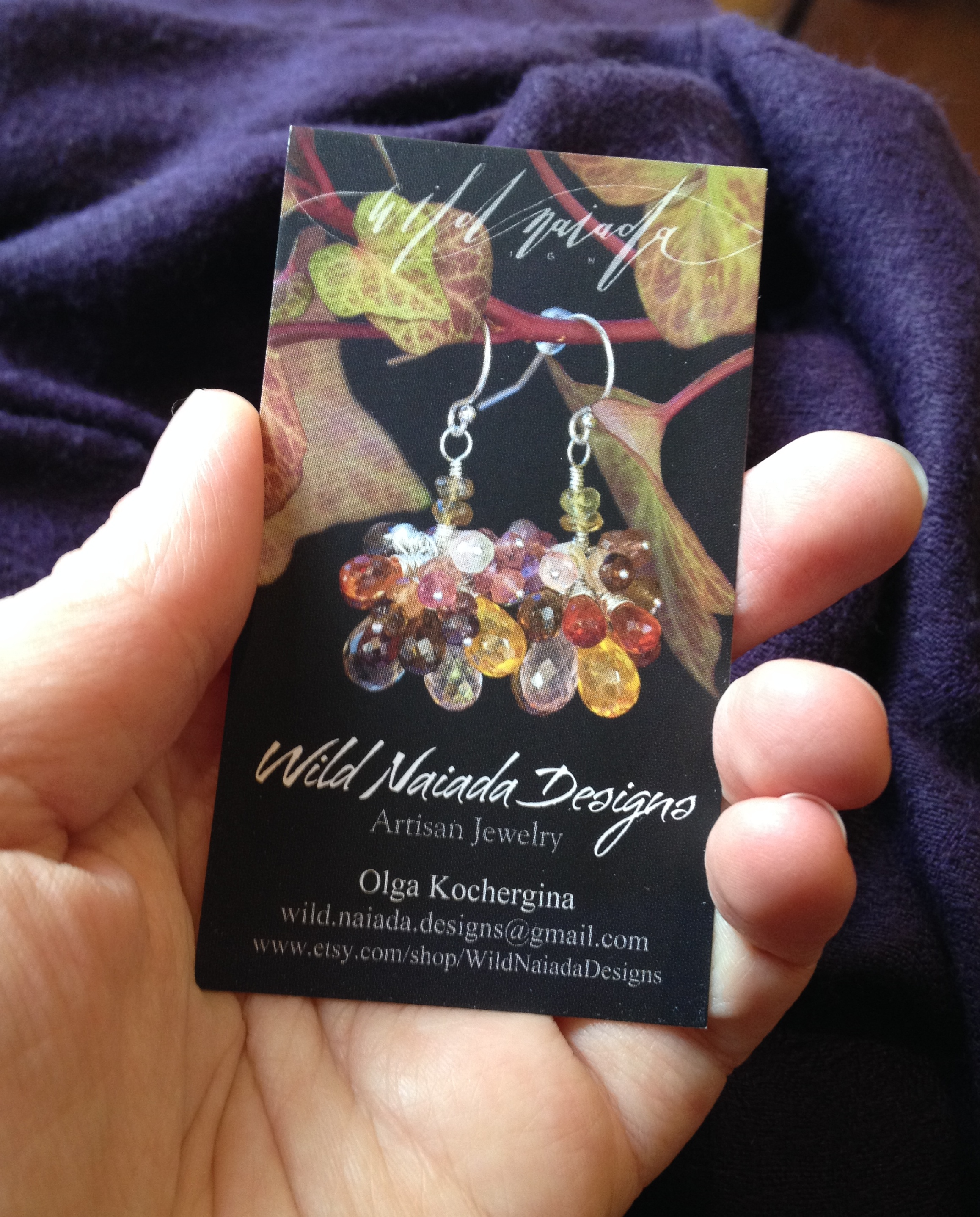 Business Cards from VistaPrint : Wild Naiada Designs